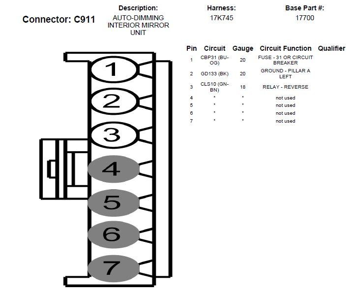 backup camera wiring connectors