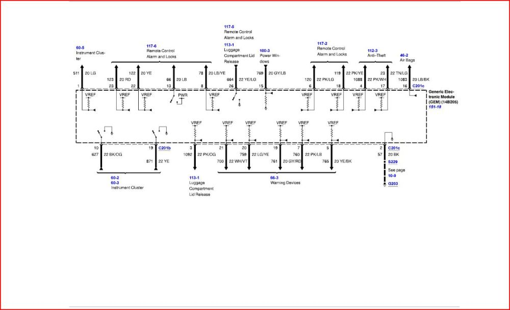 medium resolution of ford tauru fuse box diagram 2001