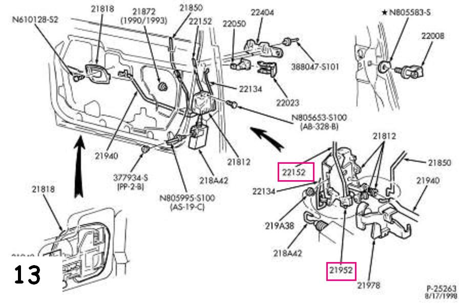 2008 Ford Focus Door Handle Exploded Diagram. Ford. Auto