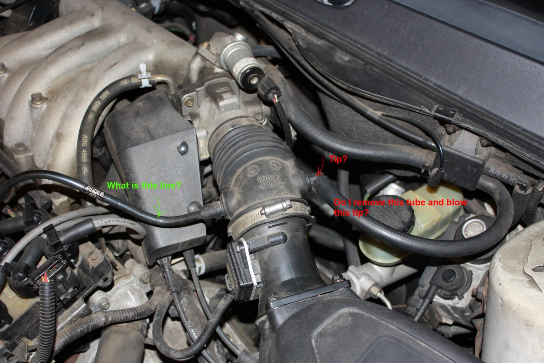 2004 ford taurus engine diagram wiring for a two way switch how to perform vacuum leak test with smoke - car club of america : forum