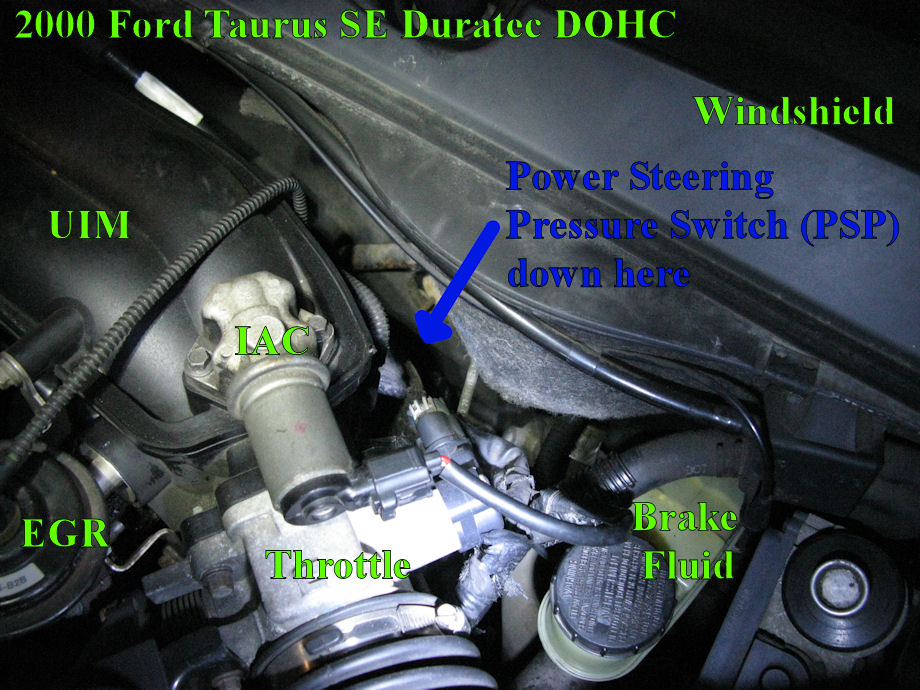 Fuel Pressure Sensor Location In Addition Ford Power Steering Pump On