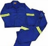 Royal Blue conti suit work suits with reflective tape