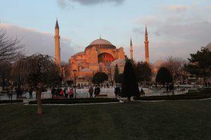 Blaue Moschee Istanbul bei Sonnenuntergang