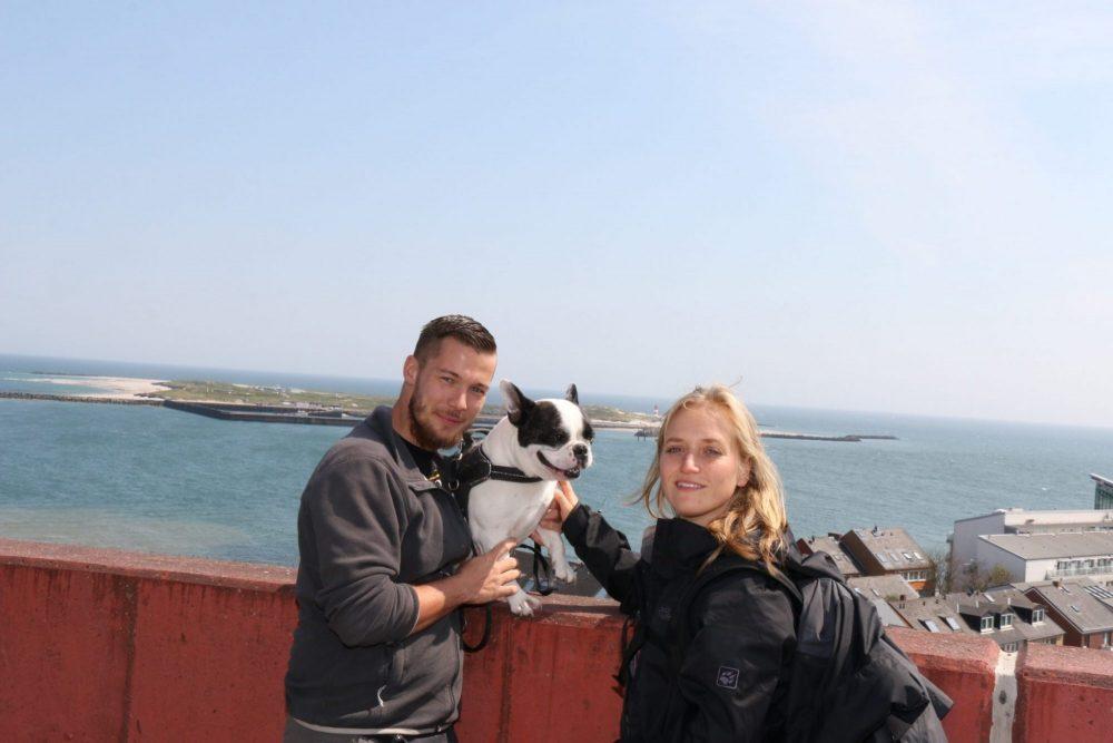 Lui über den Dächern Helgolands