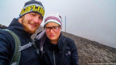 Wir hatten auf dem Red Crater weniger Glück mit dem Wetter...