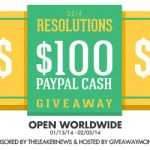 $100 Paypal Cash 2014 Resolutions Giveaway