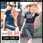 "Romwe ""Coco Made Me Do It"" Black T-Shirt #Giveaway!"