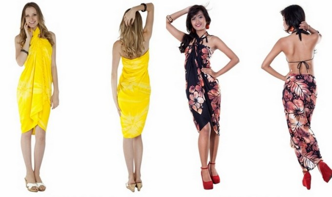 what to wear in a resort or cruise vacation, sarong