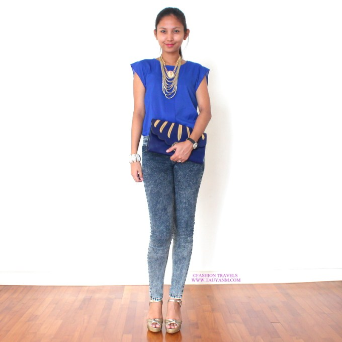 malaysia fashion blogger, fashion blogger, asian, royal blue, cobalt blue, ootd, outfit
