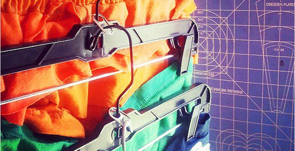 7 Soda Tabs = Offset Hangers