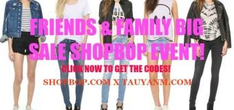 Friends and Family Shopbop.com Big Sale!