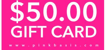 PinkBasis.com x Tauyanm.com $50 Gift Card International Giveaway!