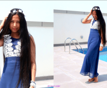 #OOTD: Dresslink.com Floral Blue Maxi Dress #fashionblogger