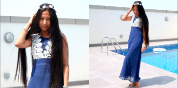 dresslink, fashion blogger, blue dress