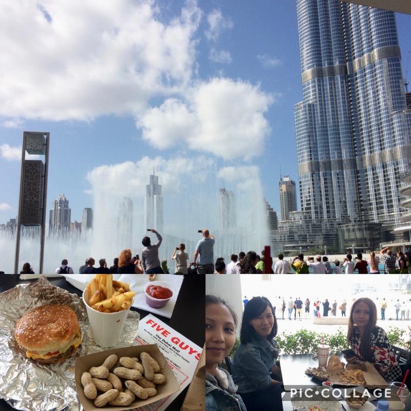 five guys, Dubai blogger