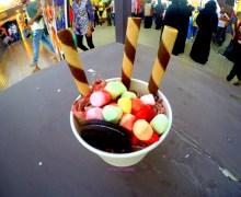 (Fried) Ice Cream Rolls in Global Village