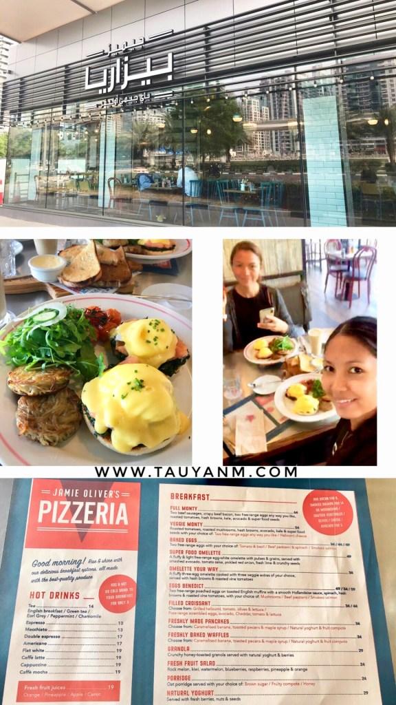 jamie oliver's pizzeria, eggs benedict, breakfast in dubai, jane fashion travels, tauyanm, dubai blogger, filipino blogger, dubai food