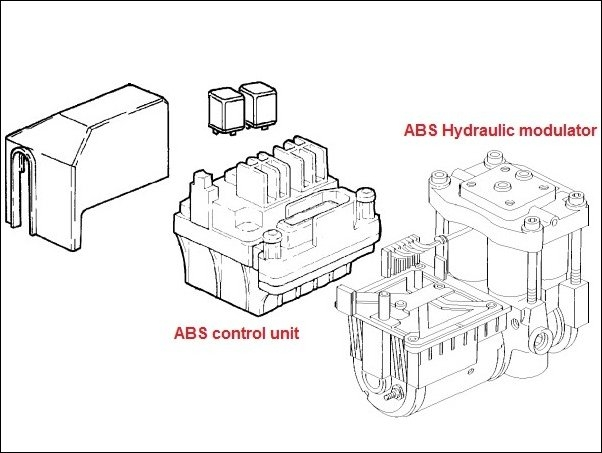 ABS Hydraulic unit Bosch 0-265-204-005 w.ABS control unit