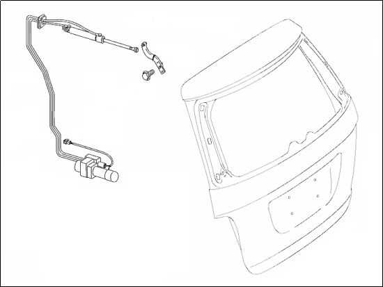 NEW! Rear door hydraulic pump Mercedes-Benz A 164-800-06