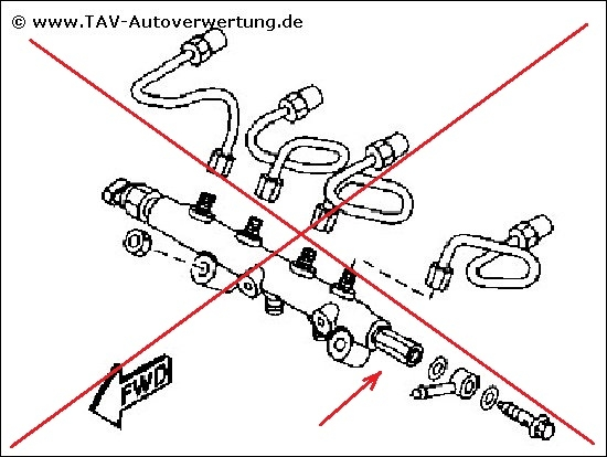 Fuel common rail Mazda 6 RF5C13GC0 Denso 0360, 352,00