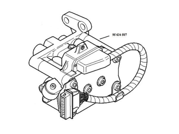 ABS Hydraulikblock 9563450680 Ate 10.0200-0021.4 Citroen