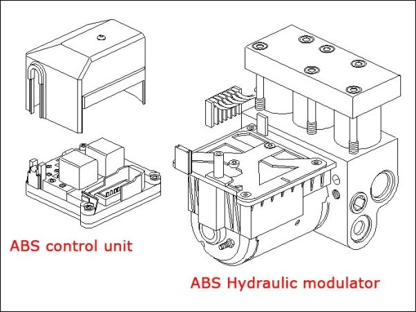 ABS Hydraulic unit Bosch 0-265-208-053 4541-17 4542-50