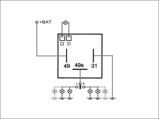 Blink-Warnlicht-Relais (2+1)/6x21W+1/2x0..10W Flasher