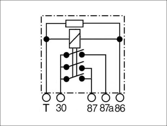 Relay No.208 VW 8A0-951-253-B SHO 89-9578-000 12V 30/20A