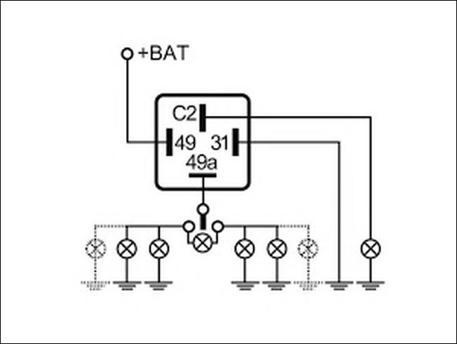 Hazard Warning Flasher Relay Opel GM 90506697 4DM004420-15