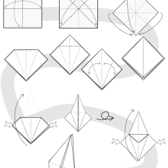 Simple Origami Flying Crane Diagram Water Cycle Black And White Index Of