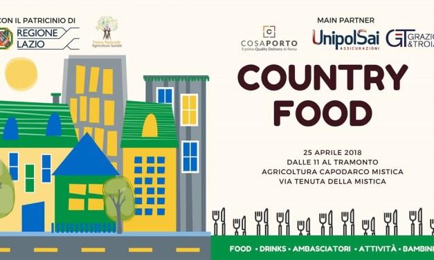 Country Food 2018, i sapori dei Quartieri di Roma alla Tenuta della Mistica il 25 Aprile
