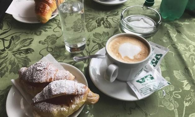 Vigna Stelluti, colazione di classe a Vigna Clara