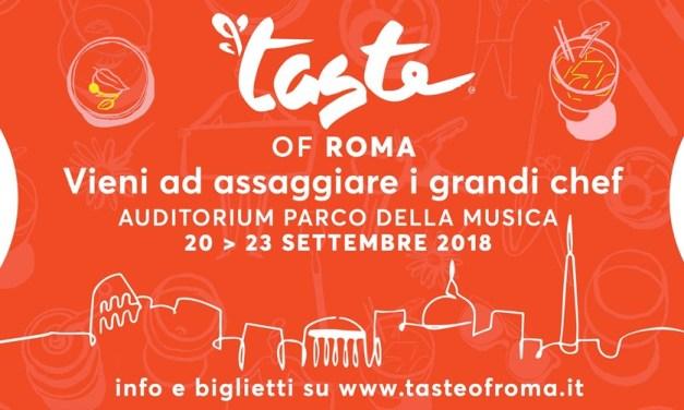 Taste of Roma 2018, 20-23 settembre: gli chef protagonisti e tutte le novità