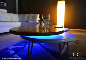 led coffee table for sale manufactured