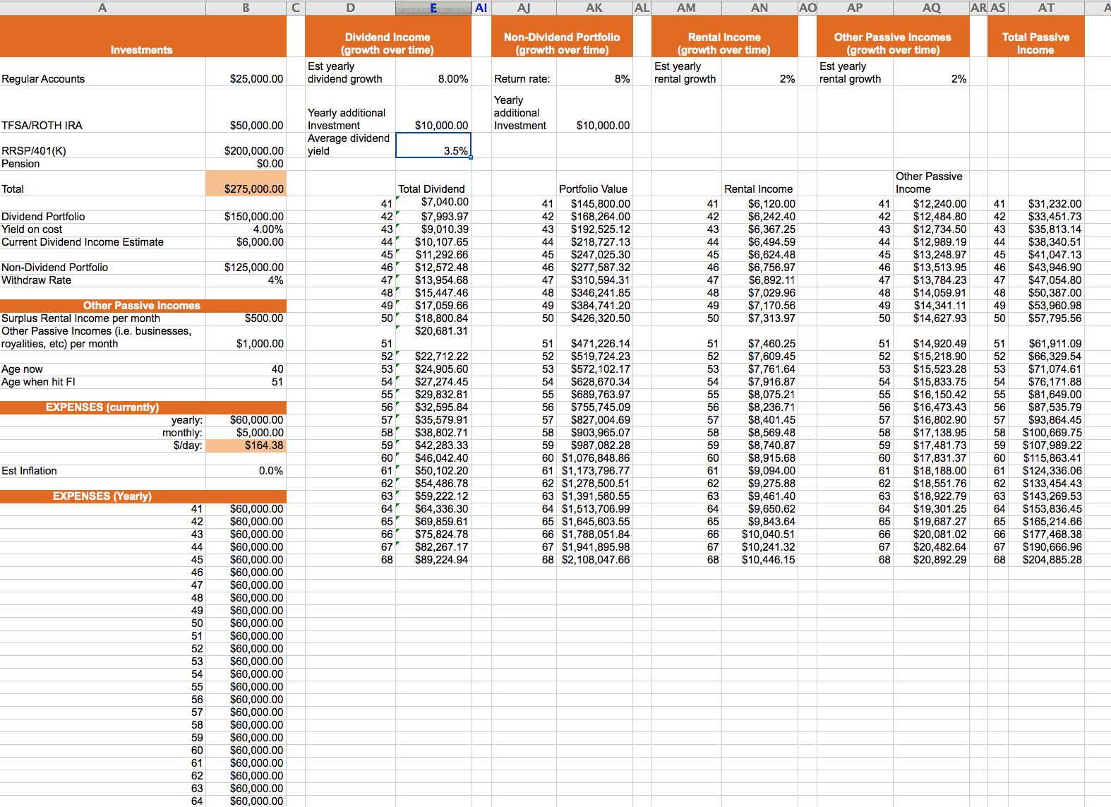 calculator spreadsheet