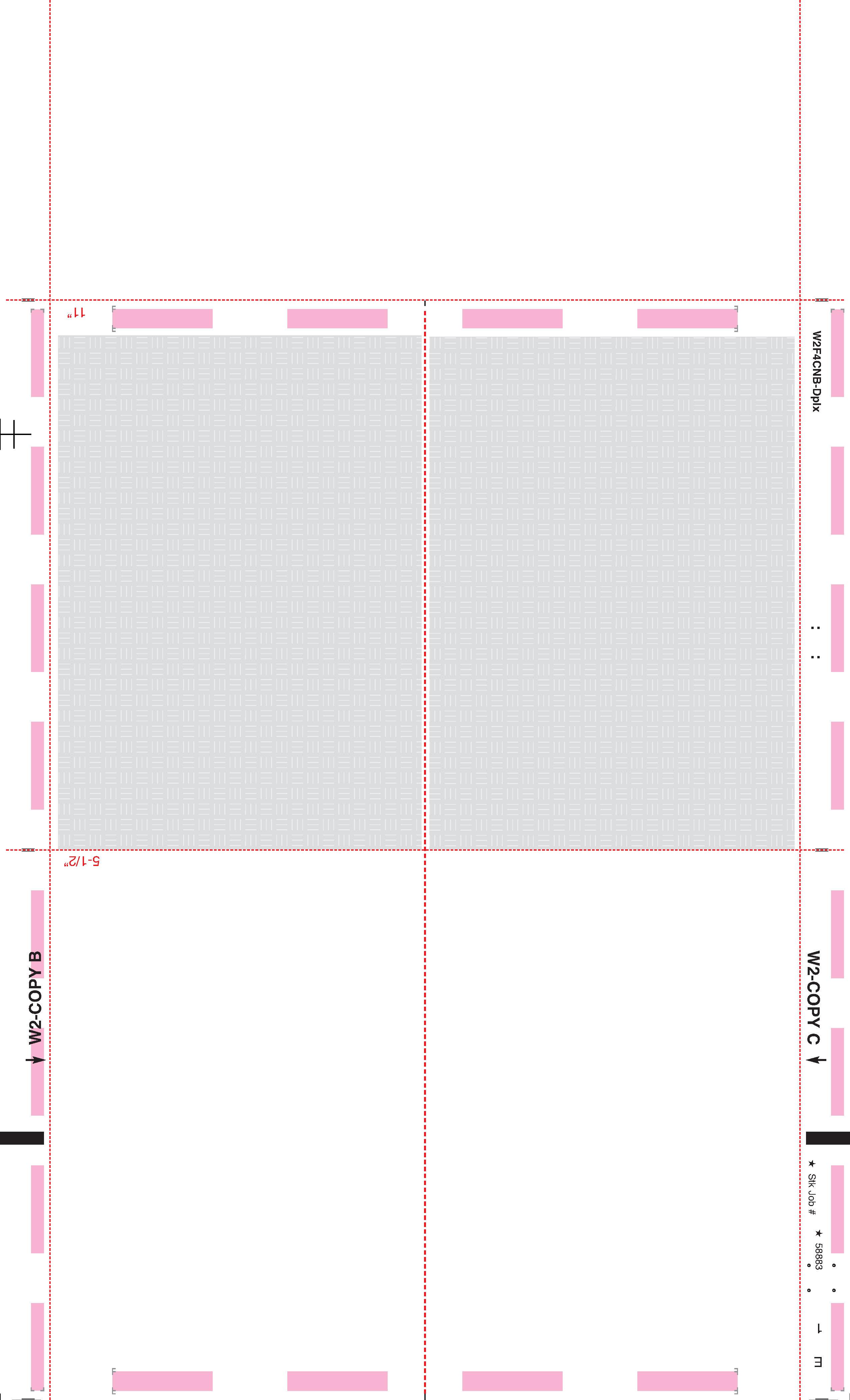 W 2 Blank Face Ez Fold Instructions On Back 4 Corner Duplex