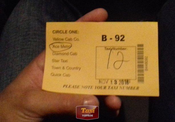 Такси в Америке: номер борта и название службы такси