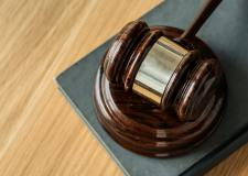 a gavel on a desk