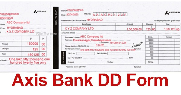 Axis Bank Demand Draft Form Online Download Pdf Format