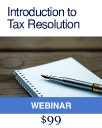 Introduction to Tax Resolution course
