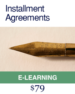 Installment Agreements e learning Course