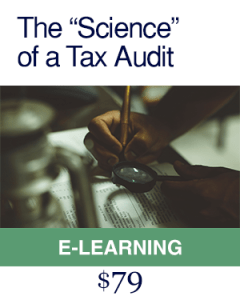 The Science of a Tax Audit e learning course