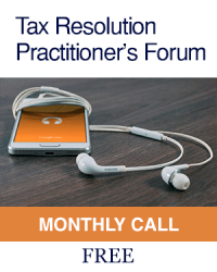 Tax Resolution Practitioners Forum