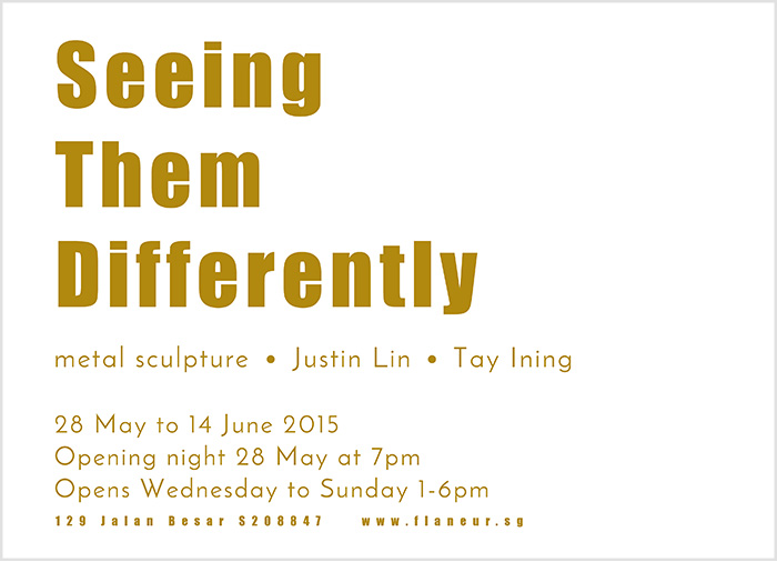 Seeing Them Differently - Justin Lin & Tay Ining at flaneur gallery
