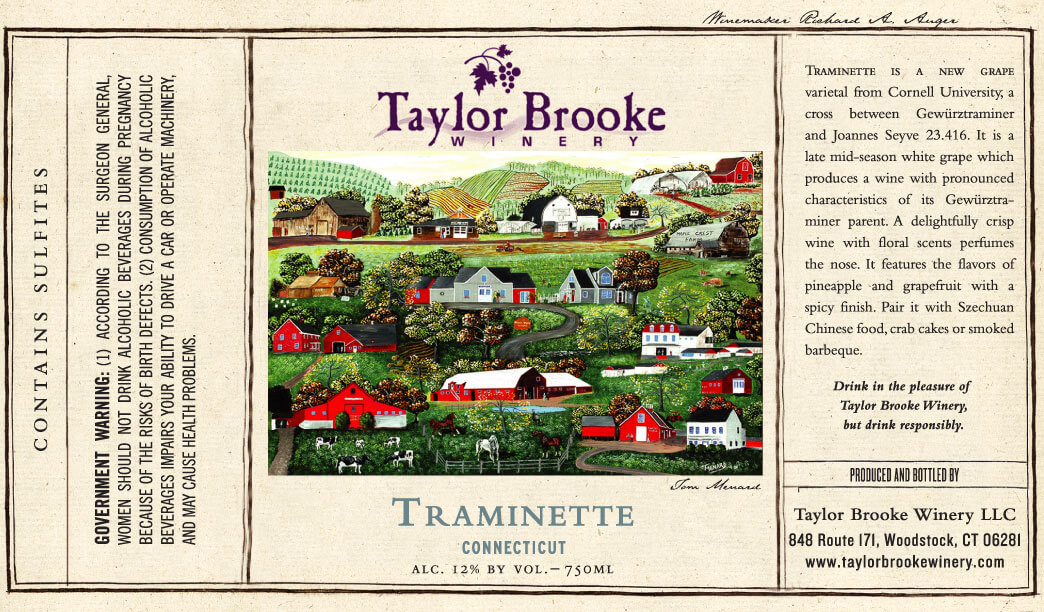 traminette wine label