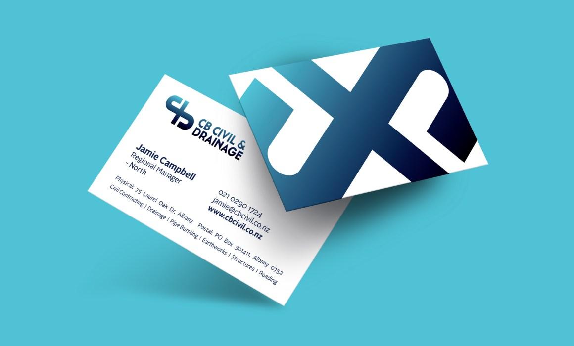 CB Civil & Drainage Business Card