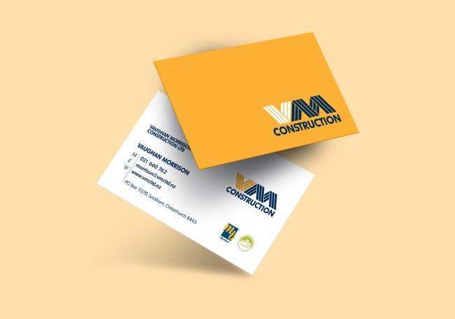 Vaughan Morrison Construction Business Card