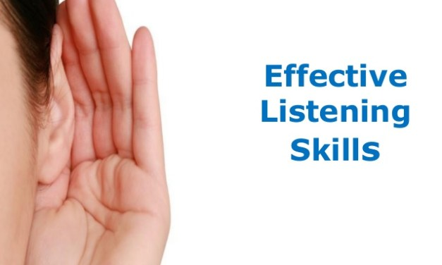 Be an active listener.