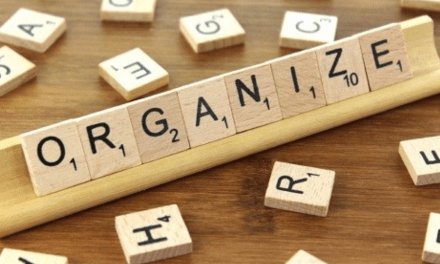 Getting organized requires forming new habits.