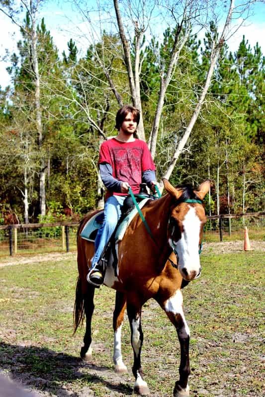 Daniel loves horses